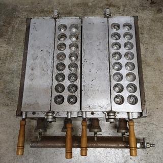 業務用たこ焼き器 アルミ鋳造 現状渡し ガス用(たこ焼き機)