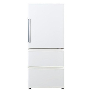 冷蔵庫 ホワイト AQUA 3ドア レンジが置けちゃう低いタイプ(冷蔵庫)