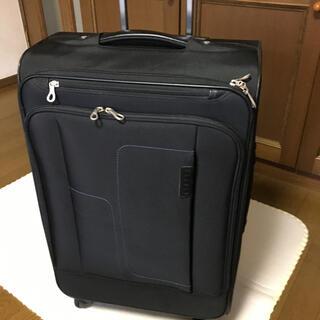 エース(ace.)のACEのソフトキャリーバッグ黒 全面にポケットが3つ有り 男女使用可 値下げ(スーツケース/キャリーバッグ)