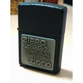 ジッポー(ZIPPO)の【美品】2015年製ブラッククラックル仕様ZIPPOジッポー(タバコグッズ)