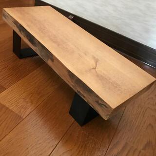 送料無料 ローテーブル 椅子 置き台にも(ローテーブル)