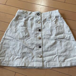 スピンズ(SPINNS)のアンティークボタン台形スカート(ミニスカート)