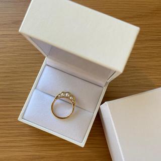 タサキ(TASAKI)のタサキ リキッドスカルプチャー リング K18 パール TASAKI(リング(指輪))