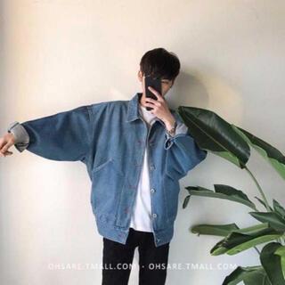 ダブルアールエル(RRL)の流行先取り ?メンズ デニムジャケット 水色  ハレ系 韓国 XLサイズ(Gジャン/デニムジャケット)