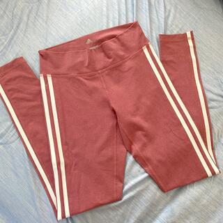 美品(*・ω・*)アディダスレギンス!淡いピンク色!adidas ヨガ