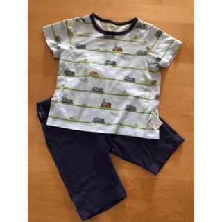 ユニクロ(UNIQLO)のトーマス総柄 半袖半ズボン パジャマ 上下セット(パジャマ)