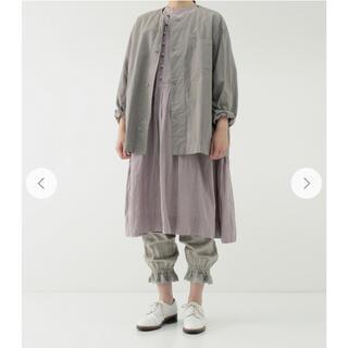 ネストローブ(nest Robe)のネストローブ コットンリネン近江晒馬布シャツジャケット(ノーカラージャケット)