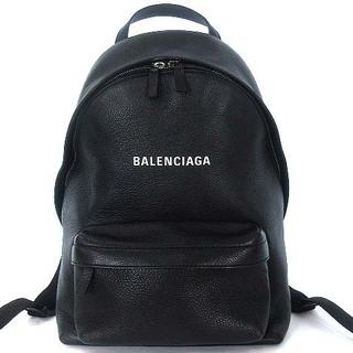 Balenciaga - バレンシアガ エブリデイ レザー バックパック リュックサック デイパック 黒