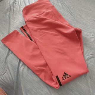 アディダス(adidas)の美品(*・ω・*)アディダスレギンスLピンク ヨガ、スポーツに!adidas(ヨガ)