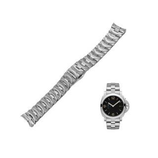 パネライ(PANERAI)のパネライ向け 316Lステンレス製 24mm バンド 腕時計ベルト 交換用(金属ベルト)