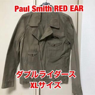 ポールスミス(Paul Smith)のPaul Smith RED EAR コットン ダブルライダース XLサイズ(ライダースジャケット)