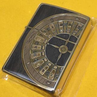 ジッポー(ZIPPO)のZIPPO 象嵌WOOD アンティークルーレット GOLD カジノ 両面仕様(タバコグッズ)