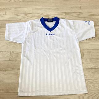 アスレタ(ATHLETA)のathleta アスレタ プラシャツ Tシャツ サッカー メンズ Mサイズ 白(Tシャツ/カットソー(半袖/袖なし))