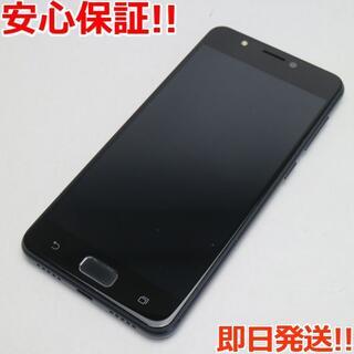 ゼンフォン(ZenFone)の美品 SIMフリー ZenFone 4 Max ネイビーブラック (スマートフォン本体)