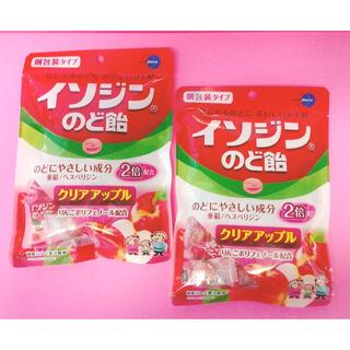 ユーハミカクトウ(UHA味覚糖)の【お買い得!】イソジン のど飴 クリアアップル 個包装 2袋セット(菓子/デザート)