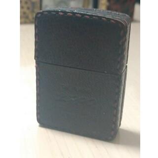 ジッポー(ZIPPO)の2003年製革巻きカバー付きZIPPOジッポー ヴィンテージ(タバコグッズ)
