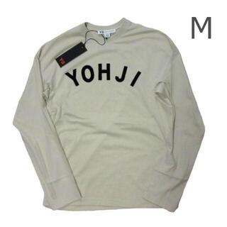 ワイスリー(Y-3)の新品タグ付き Y-3ヨウジヤマモト ロゴカットソー メンズM ユニセックス白(Tシャツ/カットソー(七分/長袖))