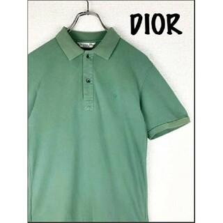 クリスチャンディオール(Christian Dior)の【Christian Dior】 ポロシャツ グリーン 刺繍ロゴ◎ 胸刺繍 高級(ポロシャツ)
