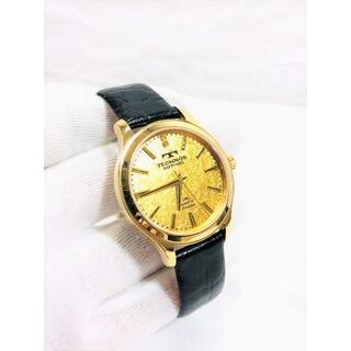 TECHNOS - TECHNOS 24K Gold foll diamond  メンズ腕時計