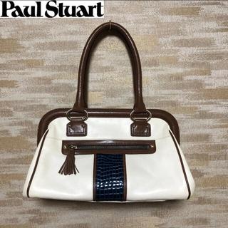 ポールスチュアート(Paul Stuart)の極美品【Paul Stuart】ポール・スチュアート 牛革 ハンドバッグ(ハンドバッグ)