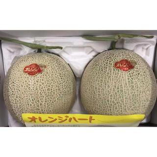 熊本県産 オレンジハート 赤肉メロン2個入り(フルーツ)