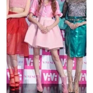 スワンキス(Swankiss)のSwankiss ボリュームスカート ピンク 美品 スワンキス(ミニスカート)