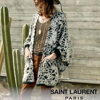 サンローラン(Saint Laurent)の【けいちん様専用】SAINT LAURENT サンローラン モヘヤ カーディガン(カーディガン)