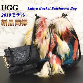 アグ(UGG)の【新品同様】【2019モデル】UGG「Lidiya」フェイクファーバケットバッグ(ショルダーバッグ)