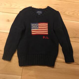 POLO RALPH LAUREN - ポロ ラルフローレン 星条旗 フラッグ セーター 4/4T