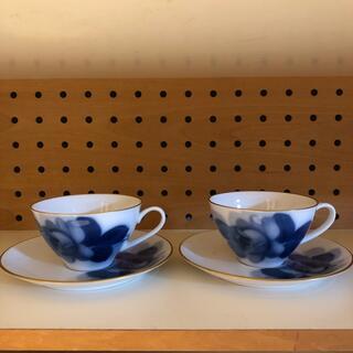 オオクラトウエン(大倉陶園)の未使用 大倉陶園 ブルーローズ カップ&ソーサー 2客(食器)