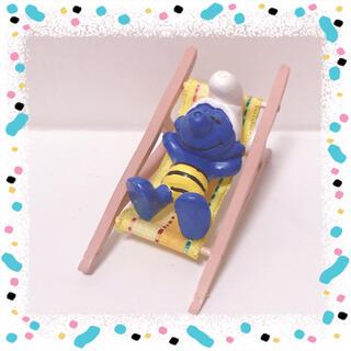 レア ビーチ スマーフ フィギュア PVC アメトイ アドバタイジング  黄色(アメコミ)
