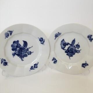 ロイヤルコペンハーゲン(ROYAL COPENHAGEN)のロイヤルコペンハーゲン ブルーフラワー アンギュラー デザートプレート 2枚(食器)