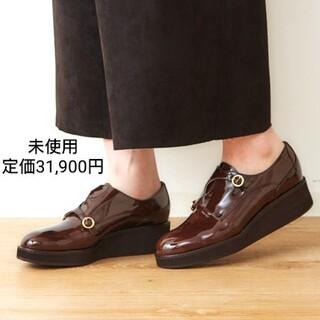 オゥバニスター(AU BANNISTER)の定価31900円❇️未使用 thyme 厚底 モンクストラップシューズ 37(ローファー/革靴)