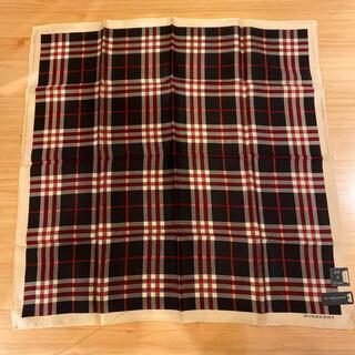 バーバリー(BURBERRY)の【新品】正規品⭐︎BURBERRY  大判シルク×綿ハンカチ スカーフ(バンダナ/スカーフ)