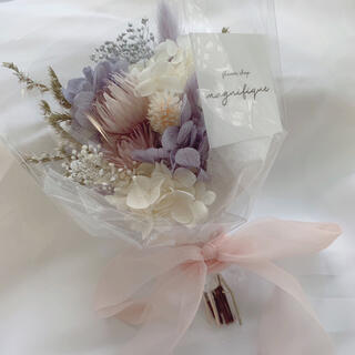 ラベンダー系 ドライフラワー 花束 ブーケ スワッグ ギフト 母の日(ドライフラワー)