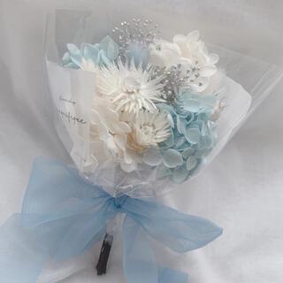 ブルー系 ドライフラワー 花束 ブーケ スワッグ ギフト 母の日(ドライフラワー)