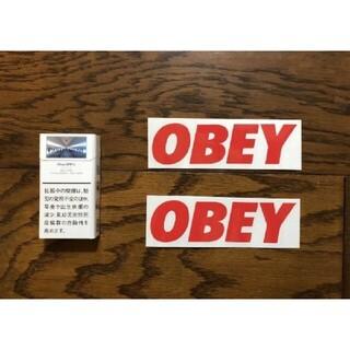 オベイ(OBEY)のOBEY オベイ 切り文字ステッカー 防水仕様 アースカラー カスタム(その他)