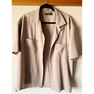 ドアーズ(DOORS / URBAN RESEARCH)のアーバンリサーチ 半袖シャツ オープンカラーシャツ ベージュ(シャツ)
