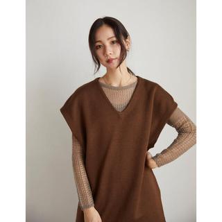 RANDEBOO Silhouette knit vest (brown)(ベスト/ジレ)