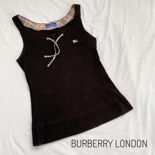 BURBERRY BLUE LABEL - 【BURBERRY LONDON BLUELABEL】タンクトップ 黒