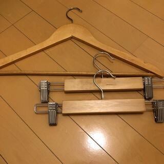 ムジルシリョウヒン(MUJI (無印良品))の無印ハンガー 18本&IKEA スカートパンツハンガー 2本(押し入れ収納/ハンガー)