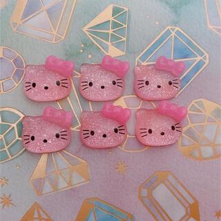 【新品】キティ デコ パーツ ネイル ハンドメイド サンリオ(デコパーツ)