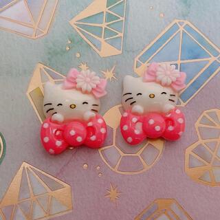 【新品】キティ デコ パーツ ネイル ハンドメイド(デコパーツ)