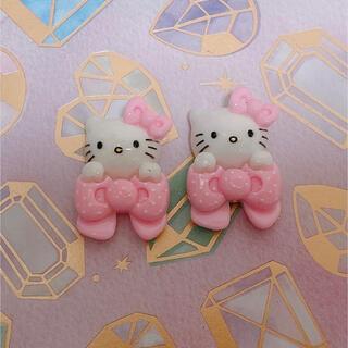 【新品】キティ ネイル デコ パーツ ハンドメイド(デコパーツ)