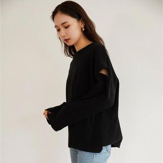 RANDEBOO Charm cut neo top (Black)(Tシャツ(長袖/七分))
