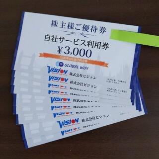 ビジョン 株主優待 27000円分(その他)