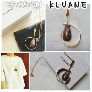 エストネーション(ESTNATION)のセレクトショップ 【 KLUANE 】ゴールド✨サークル ストーン ネックレス(ネックレス)