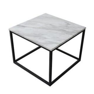 大理石調テーブル ホワイト 応接テーブル リビングテーブル 組立品(ローテーブル)