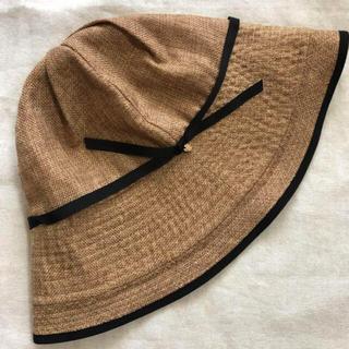 スタディオクリップ(STUDIO CLIP)の綿麻リボン パイピング帽(ハット)