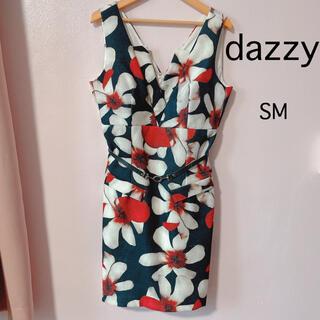 デイジーストア(dazzy store)のdazzy キャバドレス 花柄 ミニワンピース(ミニドレス)